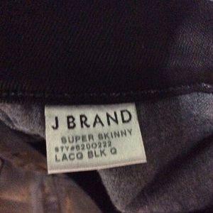 J Brand Jeans - J Brand leather type jean super skinny